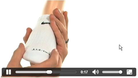 סרט וידאו למכירת גרביים